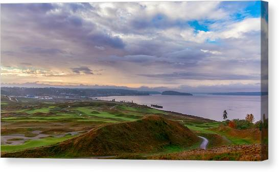 Chambers Bay Links Canvas Print