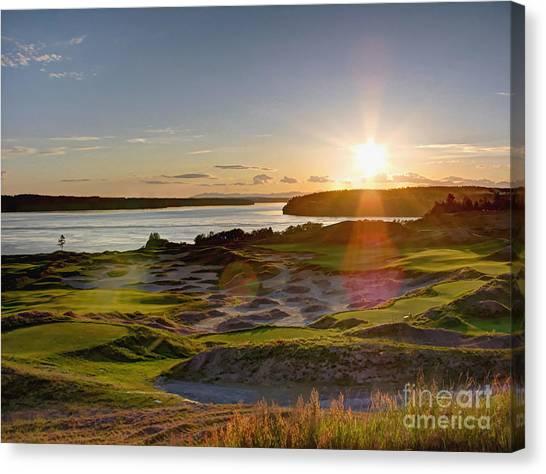 Chambers Bay Sun Flare - 2015 U.s. Open  Canvas Print