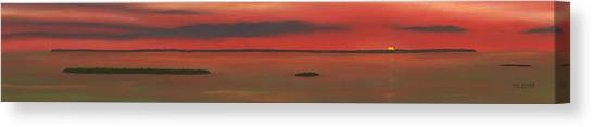 Chambers Island Sunset Canvas Print