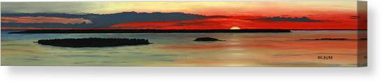 Chambers Island Sunset II Canvas Print