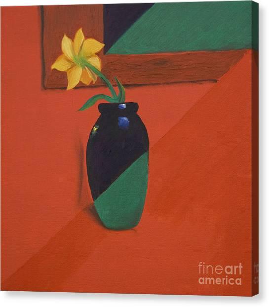 Chameleons Vase Canvas Print