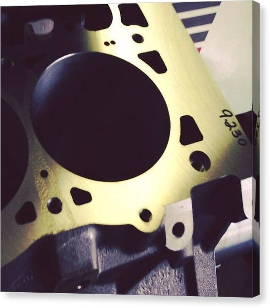 Racing Canvas Print - Chamfering Cylinders. #cnc #lsnext by Borowski Race