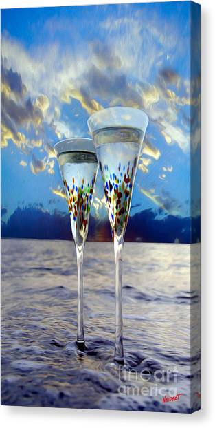 Champagne Canvas Print - Champagne At Sunset by Jon Neidert