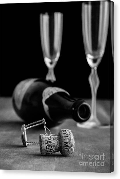 Champagne Bottle Still Life Canvas Print