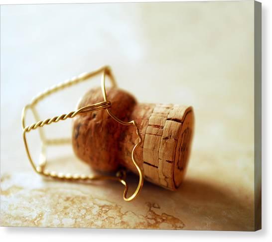 Cognac Canvas Print - Champagne Cork by Jon Neidert