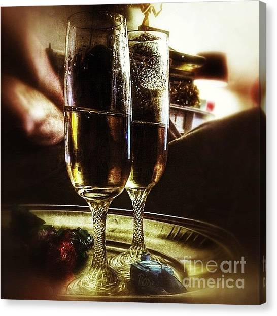 Holidays Canvas Print - Champers 'hic' #christmas by Abbie Shores