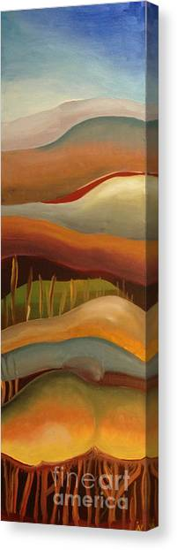 Champignons Landscape 3 In Work Canvas Print