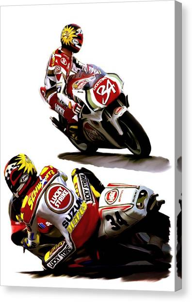 Champion 34  Kevin Schwantz Canvas Print