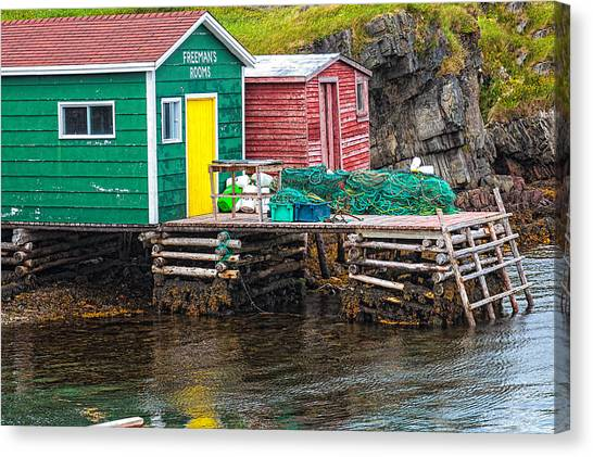 Canvas Print featuring the photograph Champney's West Fishing Wharf by Perla Copernik