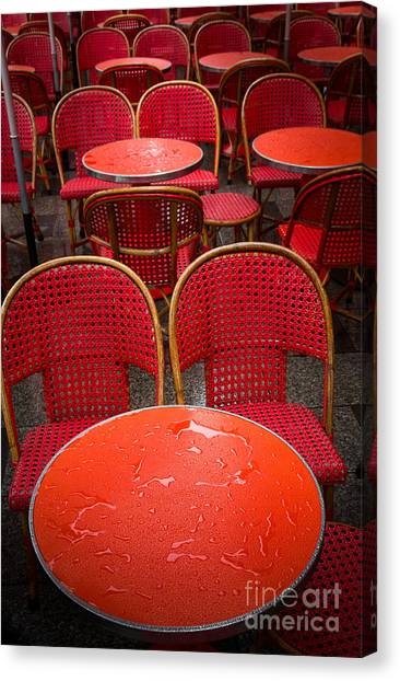 Europa Canvas Print - Champs Elysees Cafe by Inge Johnsson
