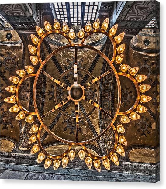 Chandelier At Hagia Sophia Canvas Print