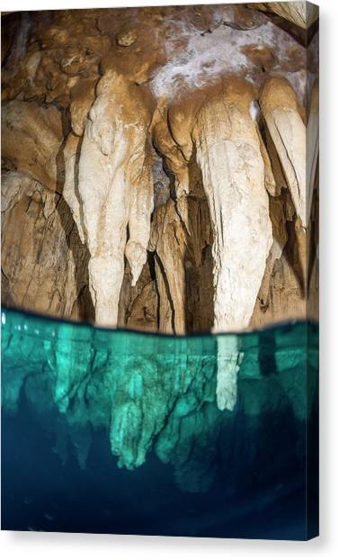 Underwater Caves Canvas Print - Chandelier Cave by Scubazoo/science Photo Library