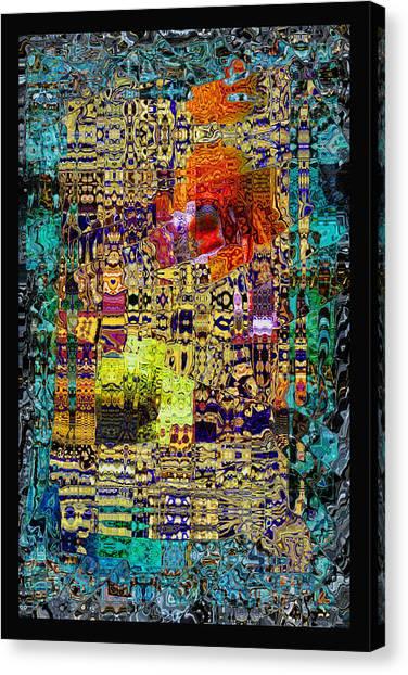 Chandelier Mosaic 1 Canvas Print