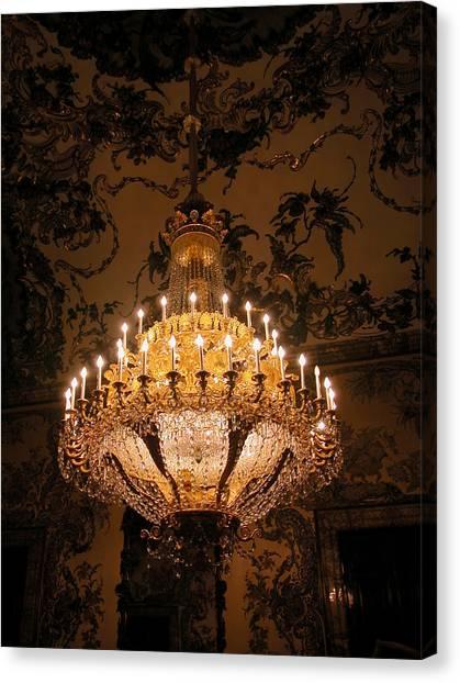 Chandelier Palacio Real Canvas Print
