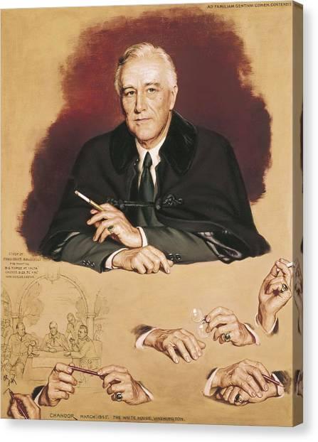 Franklin D. Roosevelt Canvas Print - Chandor, Douglas 1897-1953. Study by Everett