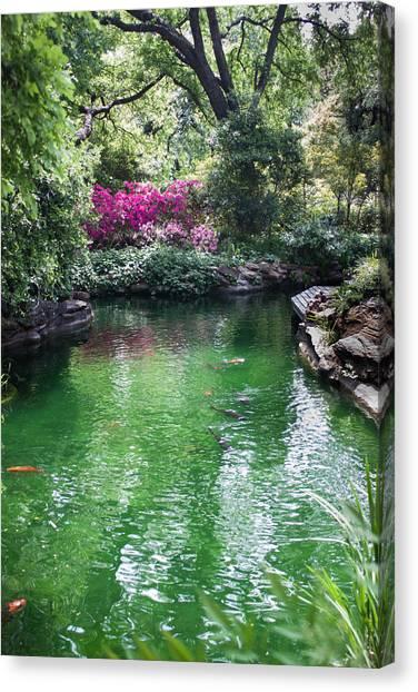 Chandor Gardens Canvas Print by Lezlie Faunce