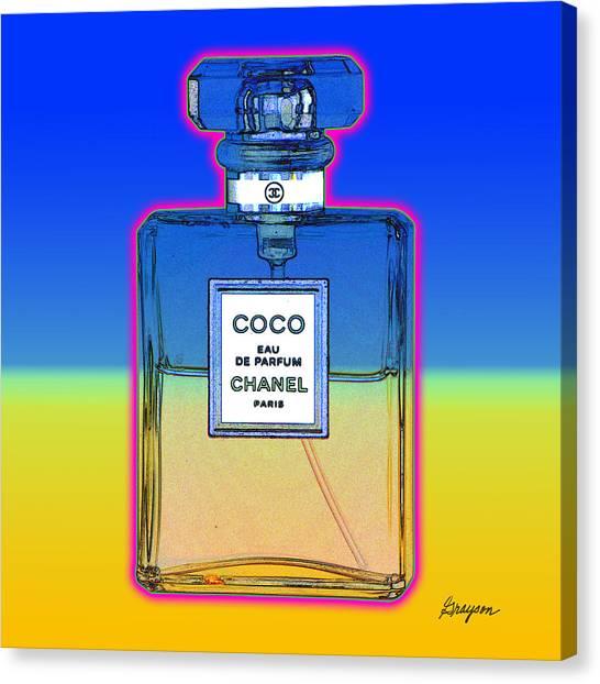 Chanel Bottle 1 Canvas Print
