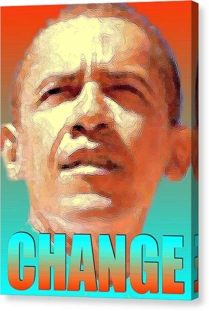 Obamacare Canvas Print - Change - Barack Obama Poster by Peter Potter