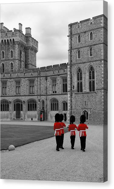 Changing Of The Guard At Windsor Castle Canvas Print