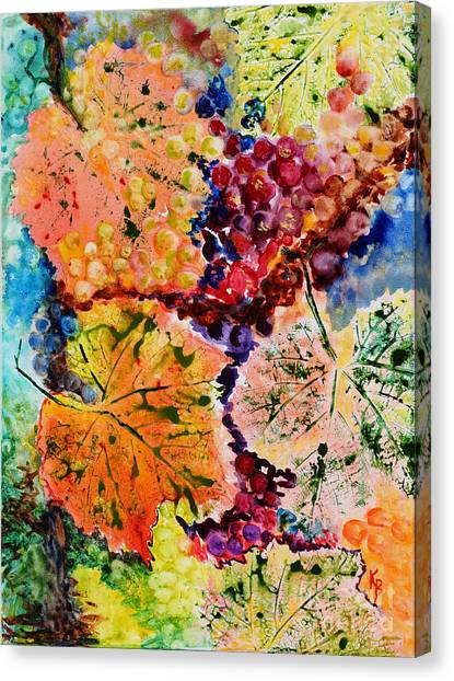 Canvas Print featuring the painting Changing Seasons by Karen Fleschler