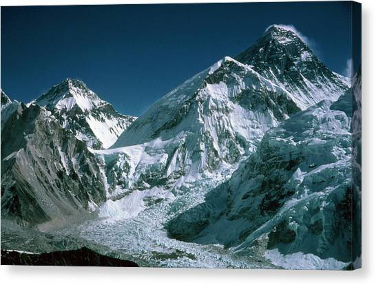 Himalayas Canvas Print - Changtse by Simon Fraser/science Photo Library