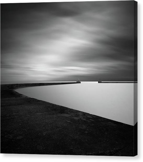 Pier Canvas Print - Channel Entrance by Mats Reslow