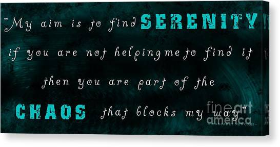 Chaos Be Gone Canvas Print