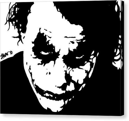 Heath Ledger Canvas Print - Chaos by Jeremy Moore