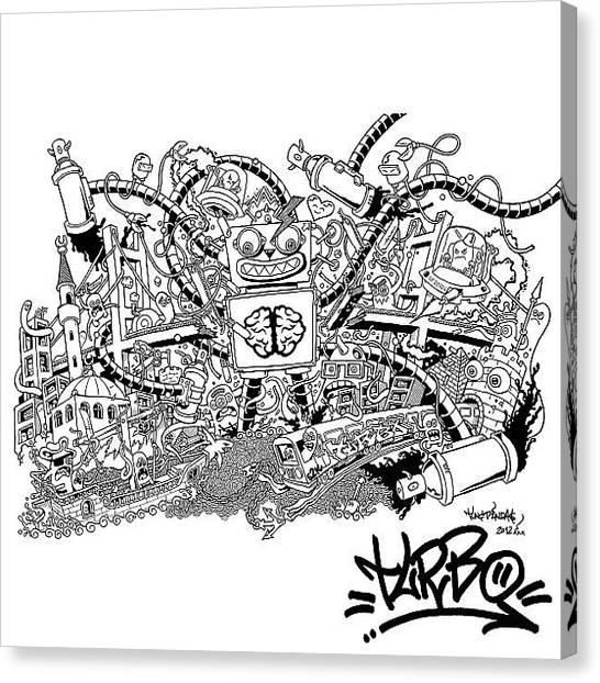Turkish Canvas Print - #chaos #sketch By #tuncdindas #turbos2k by Tunc Dindas