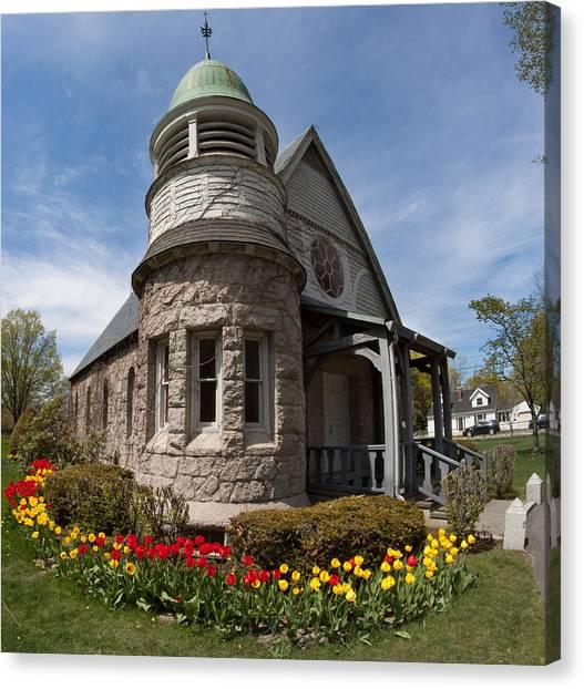 Chapel At Laurel Hill Cemetery Canvas Print