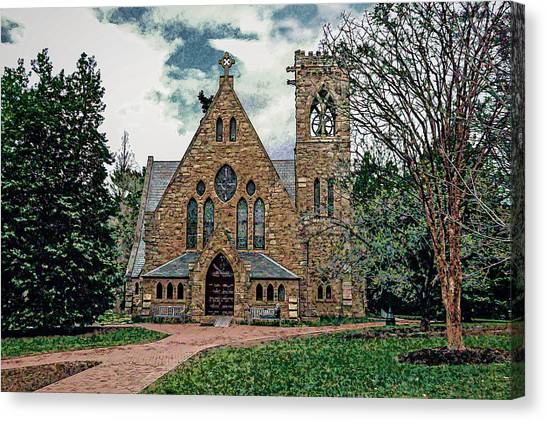 Chapel At University Of Virginia Canvas Print