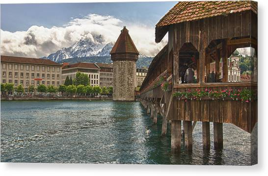 Chapel Bridge Lucerne Switzerland Canvas Print