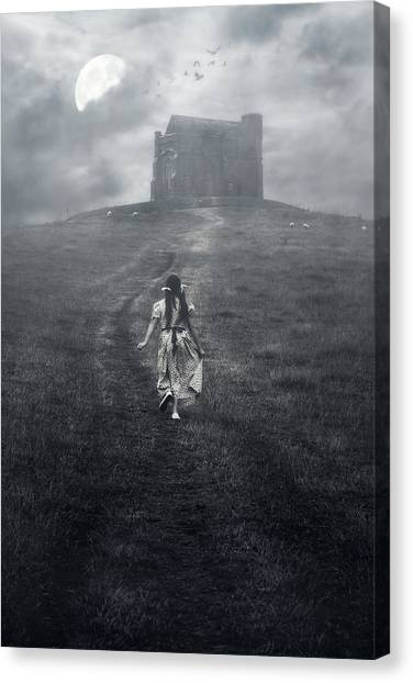 Anxious Canvas Print - Chapel In Mist by Joana Kruse