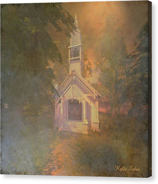 Chapel In The Wood Canvas Print