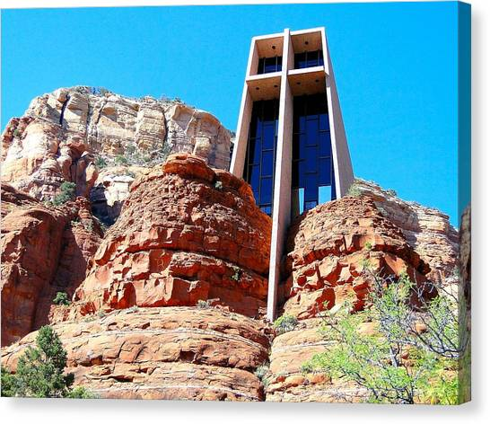 Chapel Of The Holy Cross Sedona Canvas Print