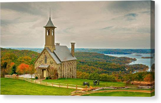 Chapel Of The Ozarks Canvas Print