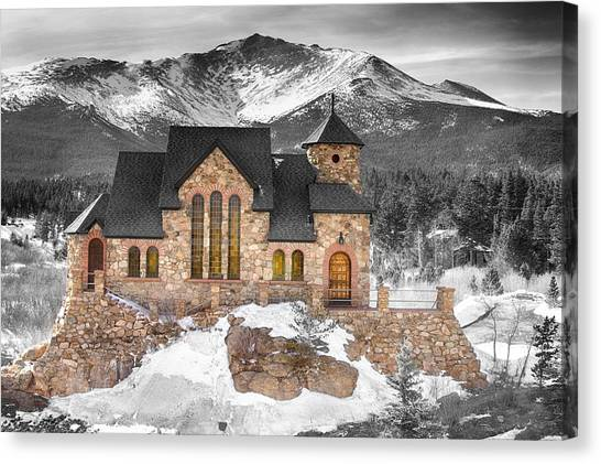Chapel On The Rock Bwsc Canvas Print