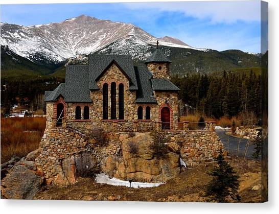 Chapel On The Rocks Canvas Print