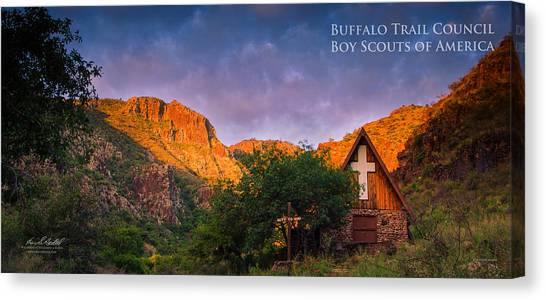 Boy Scouts Canvas Print - Chapel Sunrise by Aaron Bedell