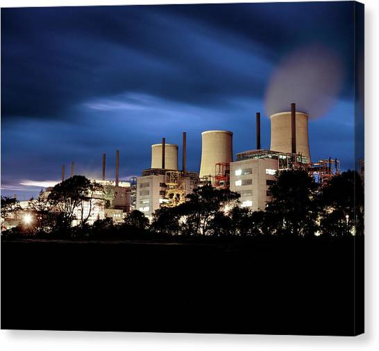 Nuclear Plants Canvas Print - Chapelcross Nuclear Power Station by Martin Bond/science Photo Library
