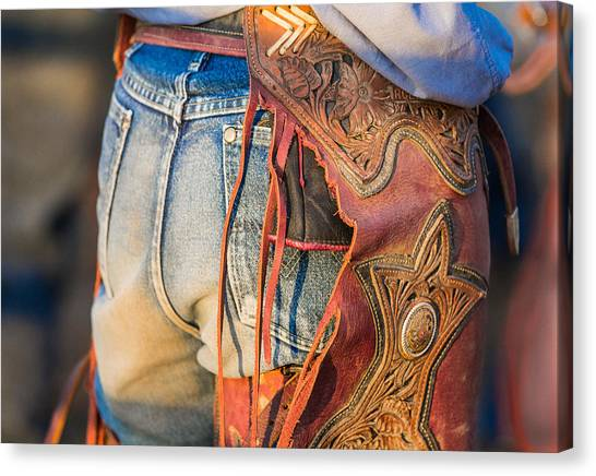Rodeo Clown Canvas Print - Chaps And Denim by Steven Bateson