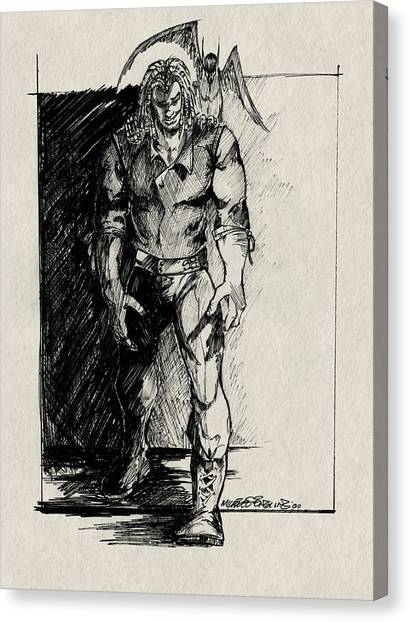 Character Sketch Canvas Print