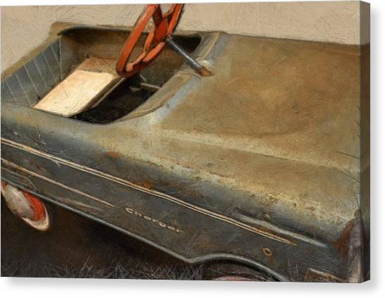 Charger Pedal Car Canvas Print