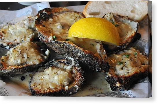 Chargrilled Oysters Canvas Print