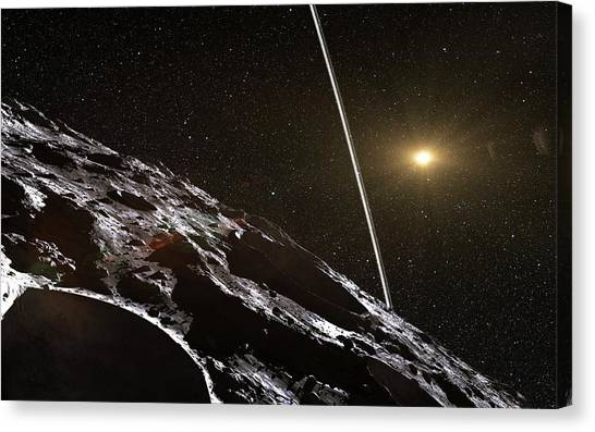 Centaurs Canvas Print - Chariklo Minor Planet And Rings by European Southern Observatory