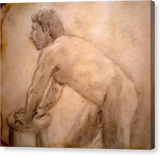 Charity Figure Drawing 2 Canvas Print by Steve Spagnola