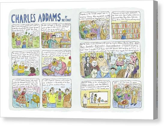 Cornell University Canvas Print - Charles Addams by Roz Chast