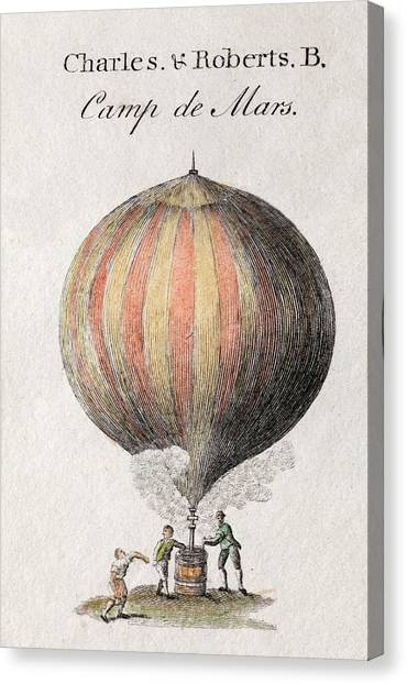 Aviators Canvas Print - Charles And Roberts' Balloon by Paul D Stewart