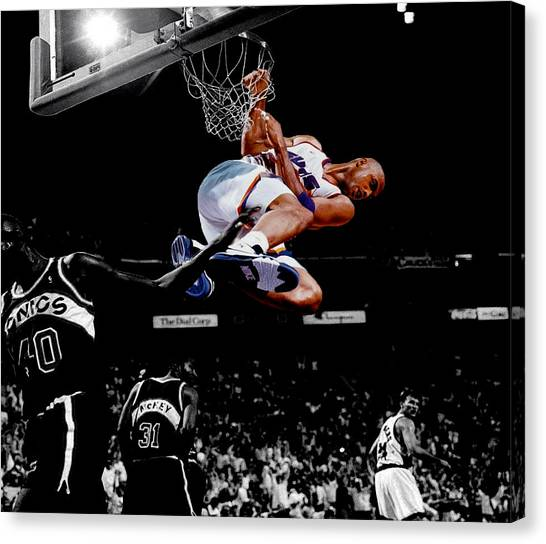 Phoenix Suns Canvas Print - Charles Barkley Hanging Around by Brian Reaves