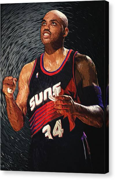 Phoenix Suns Canvas Print - Charles Barkley by Zapista